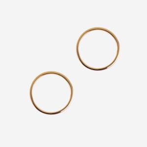 Gold Circle Studs
