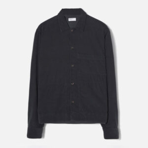 Uniform Shirt In Black Fine Cord