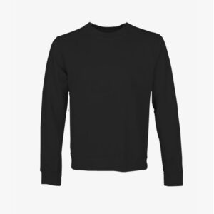 Womens Organic Crewneck, Black