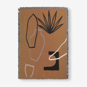 Ferm Living, Mirage Blanket, Mustard