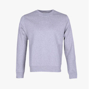 Womens Organic Crewneck, Marl Grey