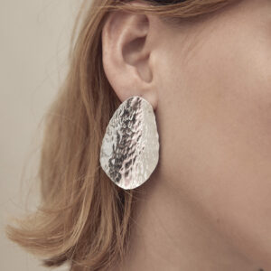 Large textured Silver Studs