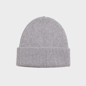 Merino Wool Beanie, charcoal Grey