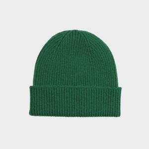 Merino Wool Beanie, Green