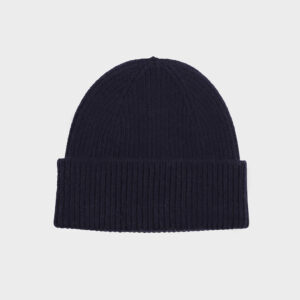 Merino Wool Beanie, French Navy