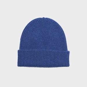 Merino Wool Beanie, Royal Blue
