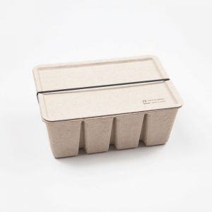 Pulp Paper Storage Box Brown
