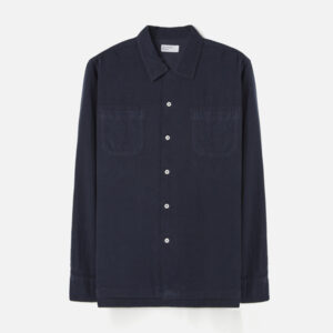 Garage shirt in super fine cord, navy