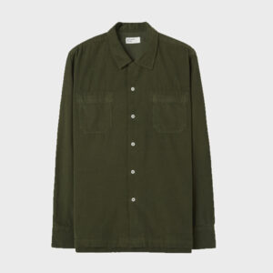 Garage shirt in super fine cord, hunter green