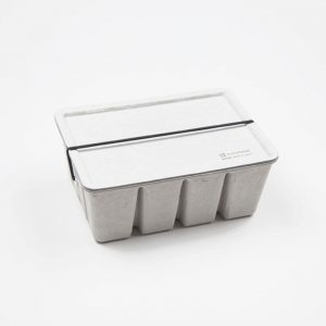 Pulp Paper Storage Box Grey