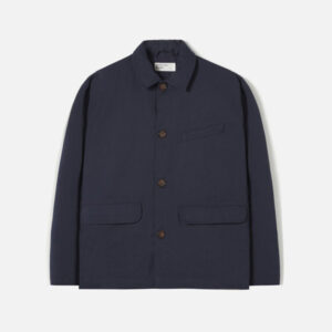 Warmus Jacket In Navy Twill