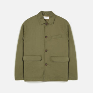 Warmus Jacket In Light Olive Twill