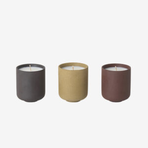Fig Scented Japanese clay candle set