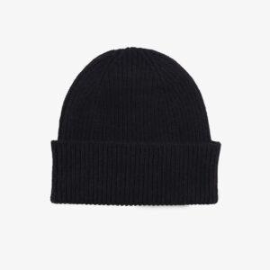 Merino Wool Beanie, black