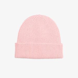 Merino Wool Beanie, Soft pink
