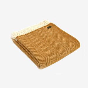 Triangle Wool Blanket Mustard