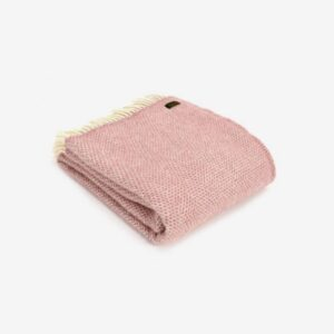 Triangle Wool Blanket Dusty pink