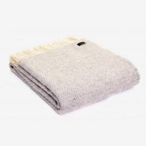 Triangle Wool Blanket Light Grey