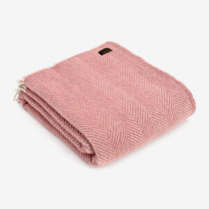 Triangle Wool Blanket Soft Pink