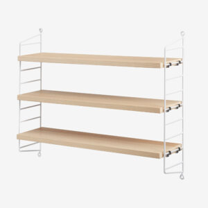 String Pocket Shelf, White and Ash