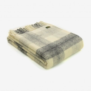 Triangle Wool Blanket Grey/ Cream