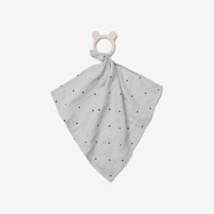 Dines Teether Cuddle Cloth - Classic dot dumbo grey