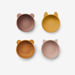 Liewood, Iggy Silicone bowls - 4 pack Rose Mix