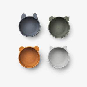 Liewood, Iggy Silicone bowls - 4 pack Blue Mix