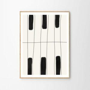 The Piano, Art Print