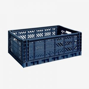 Storage Crate Large Navy Blue
