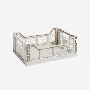 Storage Crate Medium, Light Grey