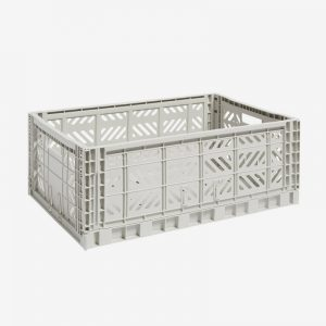 Storage Crate Large Light Grey