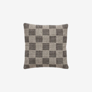 Wool Cushion black and white