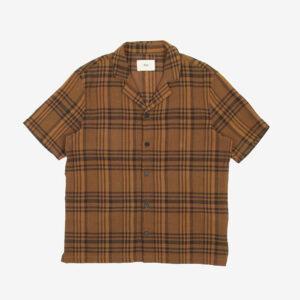 Over-dyed Crepe Check Teak shirt