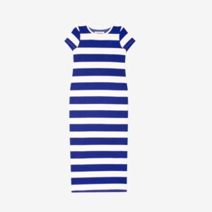 Paolo Dress Blue Stripe