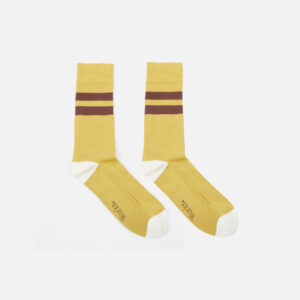 Sport Sock In Yellow/Raisin Cotton Rib