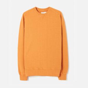 Classic Crew Sweatshirt In orange Dry Handle Loopback