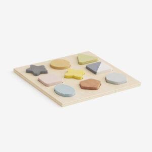 wooden geo puzzle
