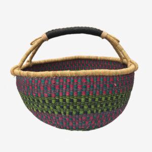 Bolga Basket Pink, green, blue