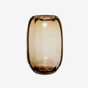 Rich Brown Smoked Glass Vase