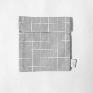 Reusable sandwich bag grey Check