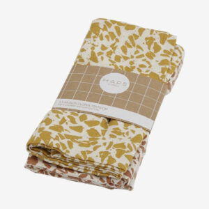 Muslin Cloths 3-pack warm Terrazzo