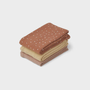 Line Muslin Cloth Pack 3 - Confetti Terracotta Mix