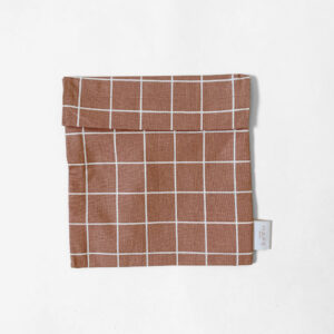 haps nordic, Reusable sandwich bag terracotta Check