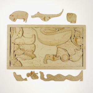 ABC Animals wooden puzzle