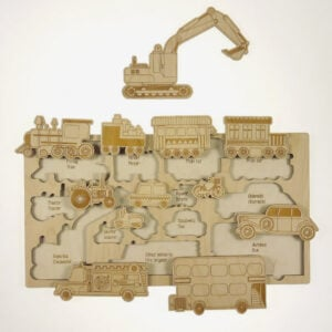 Take a ride wooden puzzle