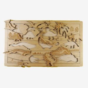 Lost world wooden puzzle