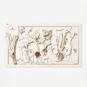 Secret garden wooden puzzle