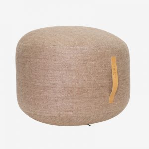 Minimal Wool Pouf, Brown
