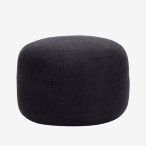 Minimal Wool Pouf, black